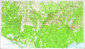 Panama City Map Download Topographic Map In Area Of Tallahassee Panama City