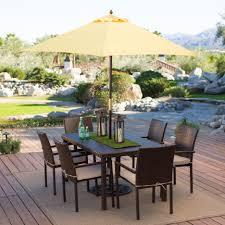 creamy tone rectangle patio umbrella with solar lights combined