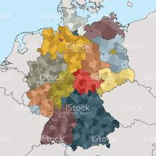 East Germany Map by Map Of Germany With Neighboring Countries Stock Vector Art