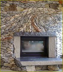 river rock bathroom ideas river rock tile fireplace home design ideas