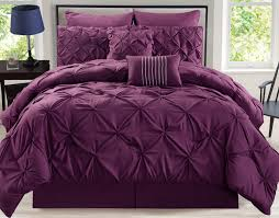 King Linen Comforter 8 Piece Rochelle Pinched Pleat Plum Comforter Set