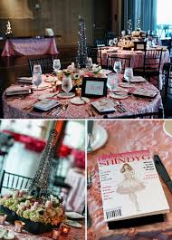 eiffel tower centerpieces shayna bat mitzvah fashion travel pink tablecloth eiffel tower