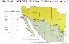 Texas Mexico Border Map by Twin Plants American Factories On The Mexican Border 1975 Full Size