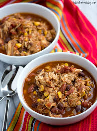crockpot chicken taco chili table for two