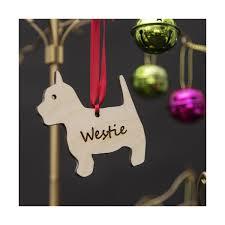 wooden westie tree ornament westie bauble decorations