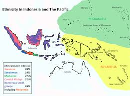 Micronesia Map Ethnicity Map West Papua Background