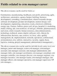 Senior Management Resume Templates Top 8 Crm Manager Resume Samples