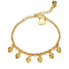 gold chain bracelet with charms images Gold chain bracelet with heart charm gold bracelet diamantbilds jpg