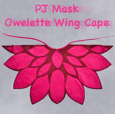 pj mask owlette wing cape bhb kidstyle