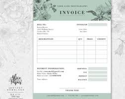Florist Invoice Template by Invoice Template Photography Invoice Receipt Template For