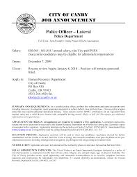 Military Police Resume Examples by Police Officer Resume Examples Sidemcicek Com