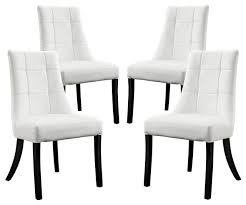 Retro Vinyl Dining Chairs Wonderful Noblesse Vinyl Dining Chair Set Of 4 Transitional For