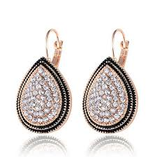 big stud earrings 2017 new vintage gold silver earrings fashion design big heart