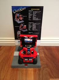 you will love this outrun arcade cabinet made of lego that damn