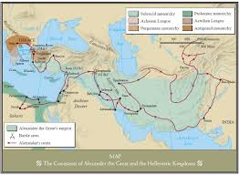 Map Of The World Bc by Conquests Of Alexander The Great And The Hellenistic Kingdoms 334