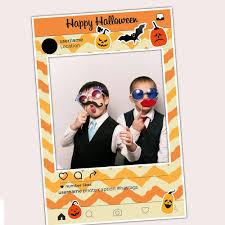 halloween photography props halloween selfie frame photo booth prop poster paper blast