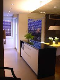 Kitchen Room Divider Apartment Black Countertop Design Idea Applied In Kitchen Space