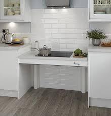 pied de plan de travail cuisine plan de travail à hauteur réglable houdan cuisines