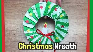 christmas wreath craft idea easy diy with just paper youtube