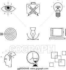 vector clipart hand drawn doodle sketch creative design process