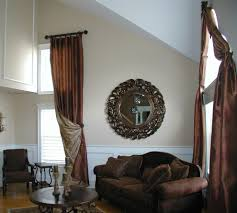 Living Room Window Treatments by Tall Window Treatments Living Room Traditional With 2 Story