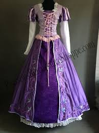 tangled rapunzel embroidered dress