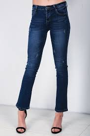 womens ripped jeans knee cut out frayed skinny fit stretchy ladies