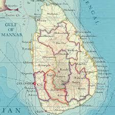Map Of Sri Lanka Sri Lanka Map Print Notebook By Bombus Off The Peg