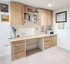White Oak Furniture Crown Lifespace Locano Raw Oak Office Furniture With White Trims