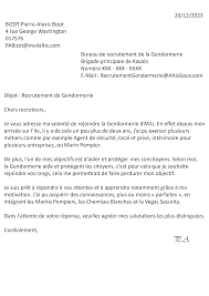 bureau de recrutement gendarmerie candidature acceptée service 1 candidature bizot