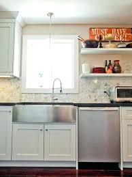 farmhouse sink with backsplash hexagon kitchen backsplash inspiration for an eclectic kitchen