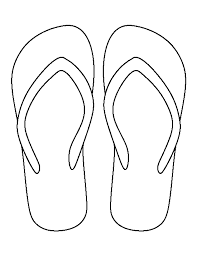 flip flop pattern use the printable outline for crafts creating