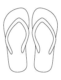 flip flop template 28 images 7 best images of flip flop