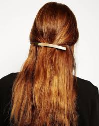 hair barrette asos asos gold hair barrette