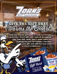 gift cards zorn s of bellmore