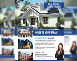 real estate flyer template 4 photos double sided photoshop
