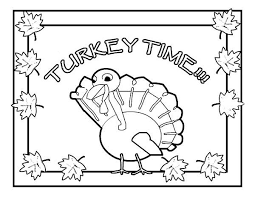 its turkey time thanksgiving day coloring page print
