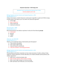 keystone quia quiz u2014cell energy unit question source and