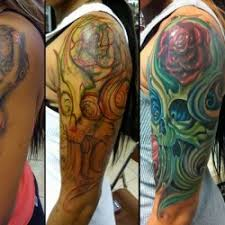 inkcover cover up on arm by vince villalvazo