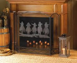 wholesale cowboy round up fireplace screen cheap