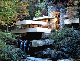 home design frank lloyd wright fallingwater house over waterfall
