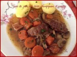 cuisiner joue de porc joues de porc à la bière chignons et carottes recette iterroir