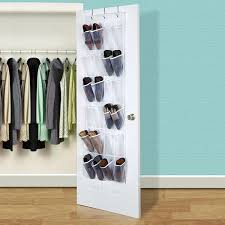 accessorygeeks com over the door shoe organizer white clear