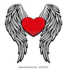 Hearts With Wings - wings stock vector 617737973