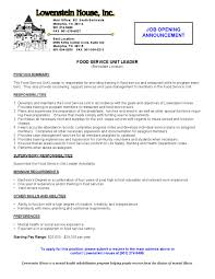 Food Server Resume Samples by Food Server Resume Resume For Your Job Application