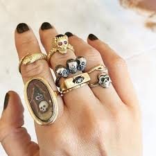 cool finger rings images Cool spotting layering stacks of chunky rings glitter inc png