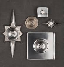 mid century star doorbell button solid brass rejuvenation