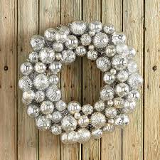 silver mercury globes ornament wreath