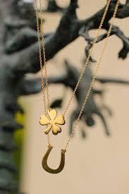 clover leaf necklace images Best 25 clover necklace ideas gl cksbringer gold jpg