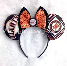 sf giants minnie mouse ears headband disney san francisco